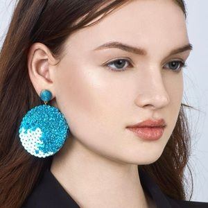 NWT Anthro BaubleBar Blue Paulette Drop Earrings